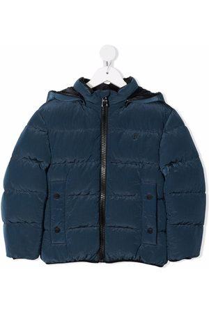 HERNO Jongens Donsjassen - Logo-print hooded puffer jacket