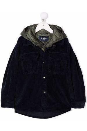 Il gufo Jongens Bomberjacks - Velvet-effect layered jacket