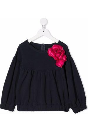 Il gufo Meisjes Blouses - Floral-appliqué gathered blouse