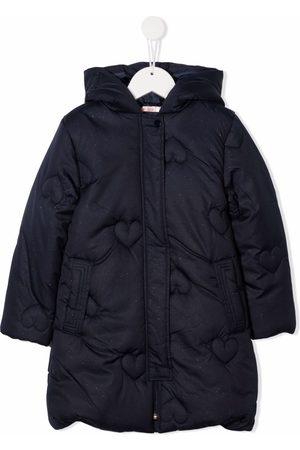 Billieblush Meisjes Donsjassen - Heart-quilt padded hooded jacket