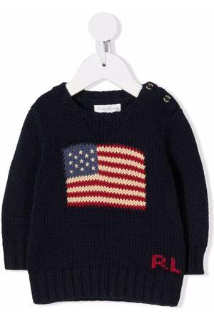 Ralph Lauren Intarsia-knit flag jumper
