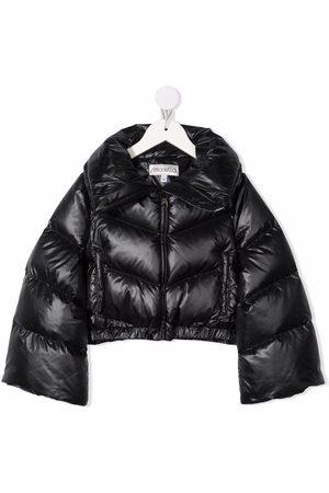 Simonetta Meisjes Donsjassen - Spread-collar oversize-sleeves padded coat