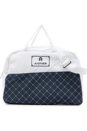 Aigner Donsjassen - Logo-embroidered padded changing bag