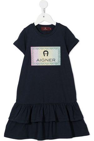 Aigner Meisjes Casual jurken - Logo-print cotton dress