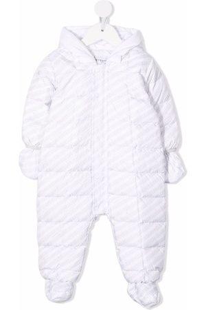 Givenchy Striped logo-print padded babygrow