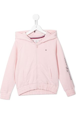 Tommy Hilfiger Embroidered-logo zip-up hoodie